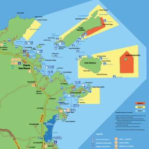 mappa area marina tavolara capo coda cavallo